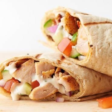 Chicken Shawarma Saj Wrap