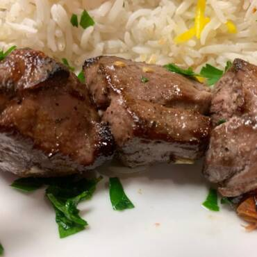 Lamb Shashlik Kabab